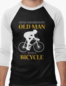 Old man with bicycle Men's Baseball ¾ T-Shirt