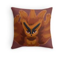Fox of Many Tails Throw Pillow