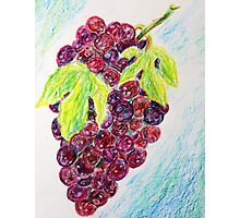 Red grapes Photographic Print