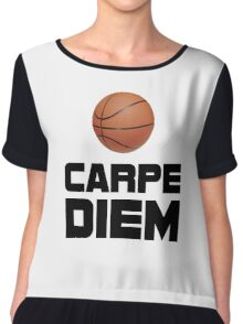 Carpe Diem Basketball Chiffon Top