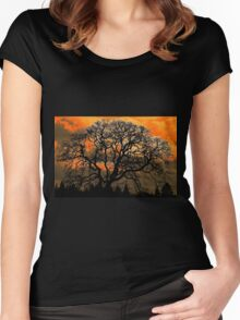 Altered Oak 3 Women's Fitted Scoop T-Shirt