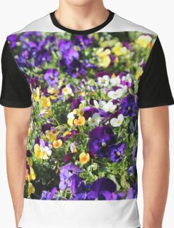 Cheerful Pansies Graphic T-Shirt