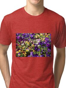 Cheerful Pansies Tri-blend T-Shirt