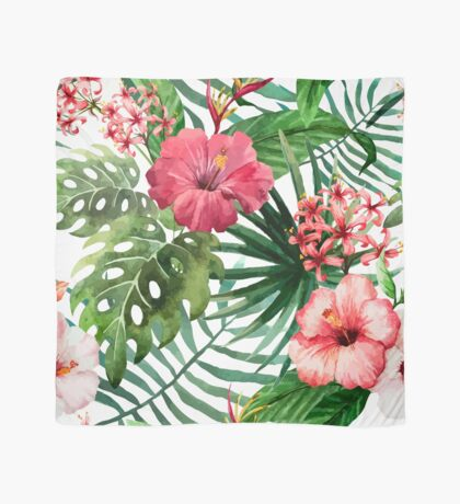 Boho Floral Tropical Watercolor Scarf