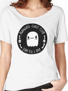 Awkward Ghost Club Black Women's Relaxed Fit T-Shirt