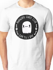 Awkward Ghost Club Black Unisex T-Shirt