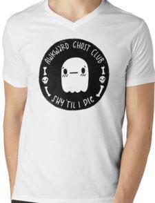 Awkward Ghost Club Black Mens V-Neck T-Shirt