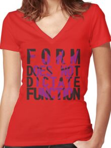 Form vs Function Women's Fitted V-Neck T-Shirt