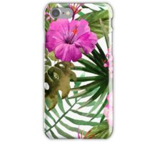 Boho Tropical Floral Watercolor Var. 4 iPhone Case/Skin