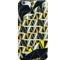 Distorted Wire-frame and 3D Triangles  iPhone Case/Skin