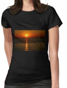 Orange Glow Womens Fitted T-Shirt