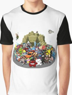 Indie Game Collage Graphic T-Shirt