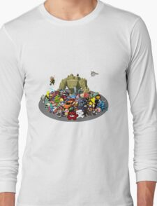 Indie Game Collage Long Sleeve T-Shirt