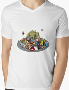 Indie Game Collage Mens V-Neck T-Shirt