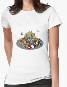 Indie Game Collage Womens Fitted T-Shirt