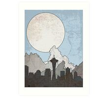Map to the Pacific Northwest Art Print