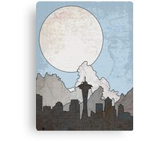 Map to the Pacific Northwest Canvas Print