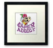 Gamer Addict Framed Print