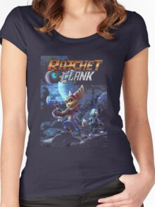 ratchet and clank movie Women's Fitted Scoop T-Shirt
