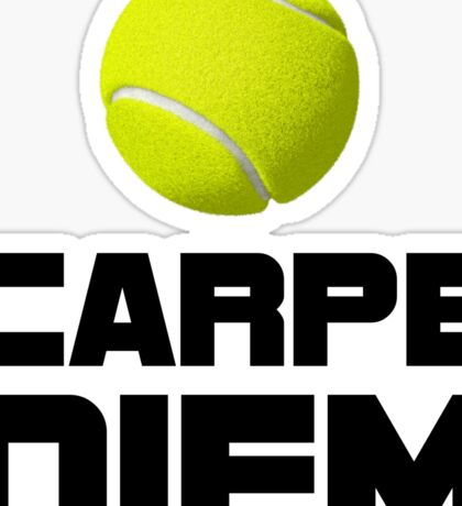 Carpe Diem Tennis Sticker