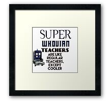 Perfect For The Supernatural /Doctor Who Fan! Framed Print