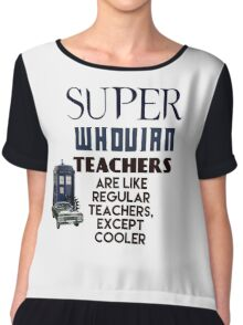 Perfect For The Supernatural /Doctor Who Fan! Chiffon Top