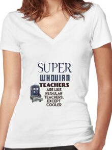 Perfect For The Supernatural /Doctor Who Fan! Women's Fitted V-Neck T-Shirt