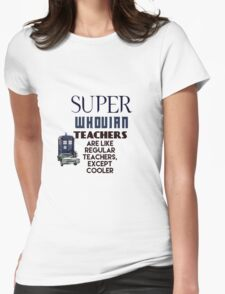 Perfect For The Supernatural /Doctor Who Fan! Womens Fitted T-Shirt