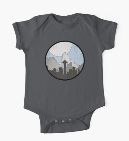 Map to the Pacific Northwest - Round One Piece - Short Sleeve