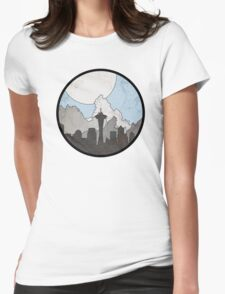 Map to the Pacific Northwest - Round Womens Fitted T-Shirt
