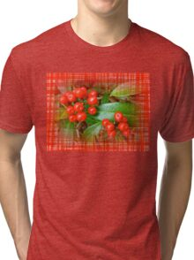 Holly Berries Tri-blend T-Shirt