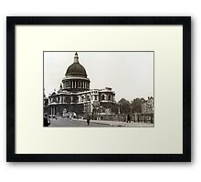 St Paul's Cathedral in the 1940s Framed Print
