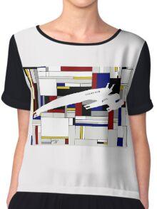 Mondrian Cubist Normandy Chiffon Top