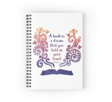 Watercolour Book Quote Print Spiral Notebook