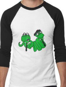 2 brothers buddies team crew glasses snakes bookworm nerd geek ties hornbrille smart funny cool comic cartoon Men's Baseball ¾ T-Shirt