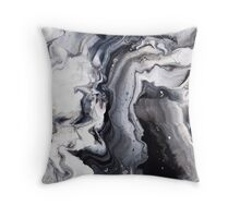 Marble Design Black and White Throw Pillow