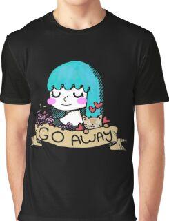 Go Away Banner Girl Graphic T-Shirt