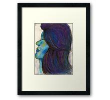 Ocean Galaxy Girl Framed Print