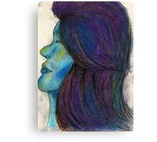 Ocean Galaxy Girl Canvas Print