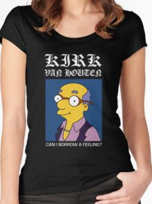 Kirk Van Houten - Can I Borrow A Feeling? Women's Fitted Scoop T-Shirt