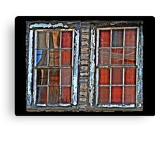 Reflections and Spiderweb Windows Canvas Print