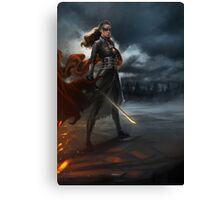 To War: Commander Lexa Canvas Print