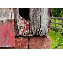 Old weathered wall Photographic Print