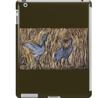Brolga Bas Relief Gold iPad Case/Skin