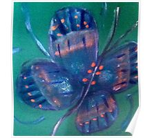 Butterfly Indigo Blue Poster