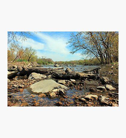 Fox River Oswego, Illinois Photographic Print