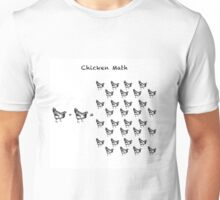 Chicken Math (Square) Woodcut Unisex T-Shirt