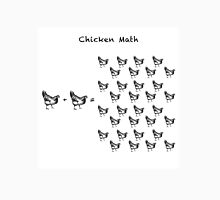Chicken Math (Square) Woodcut Unisex T-Shirt