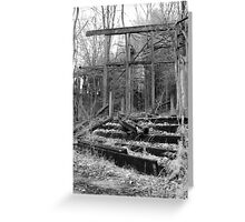 Collapsing Staircase Greeting Card