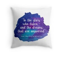 A Court of Mist and Fury - Watercolour Quote Throw Pillow